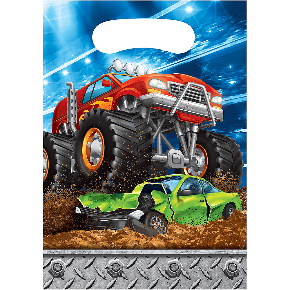 Monster Truck Favor Bags 8ct Image #1