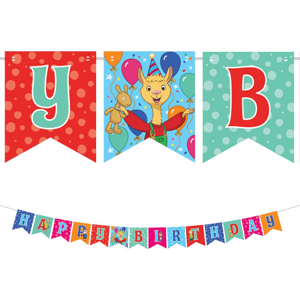 Llama Llama Birthday Pennant Banner Image #1