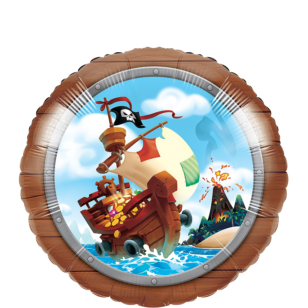 Treasure Island Pirate Balloon Image #1