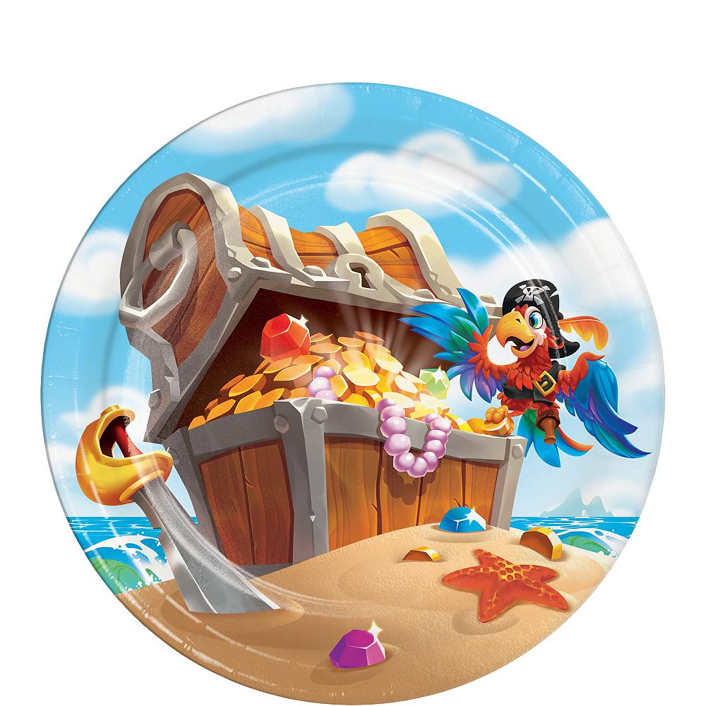 Treasure Island Pirate Dessert Plates 8ct Image #1