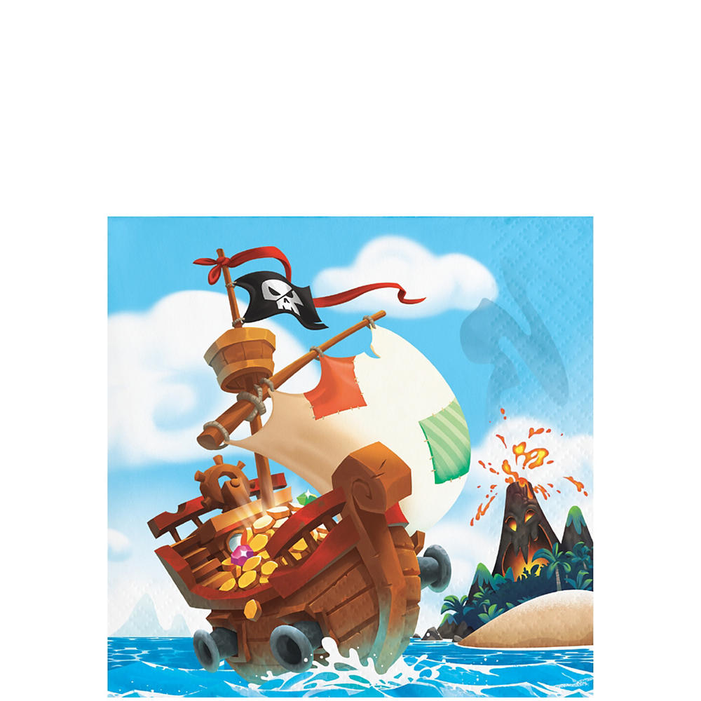 Treasure Island Pirate Beverage Napkins 16ct Image #1