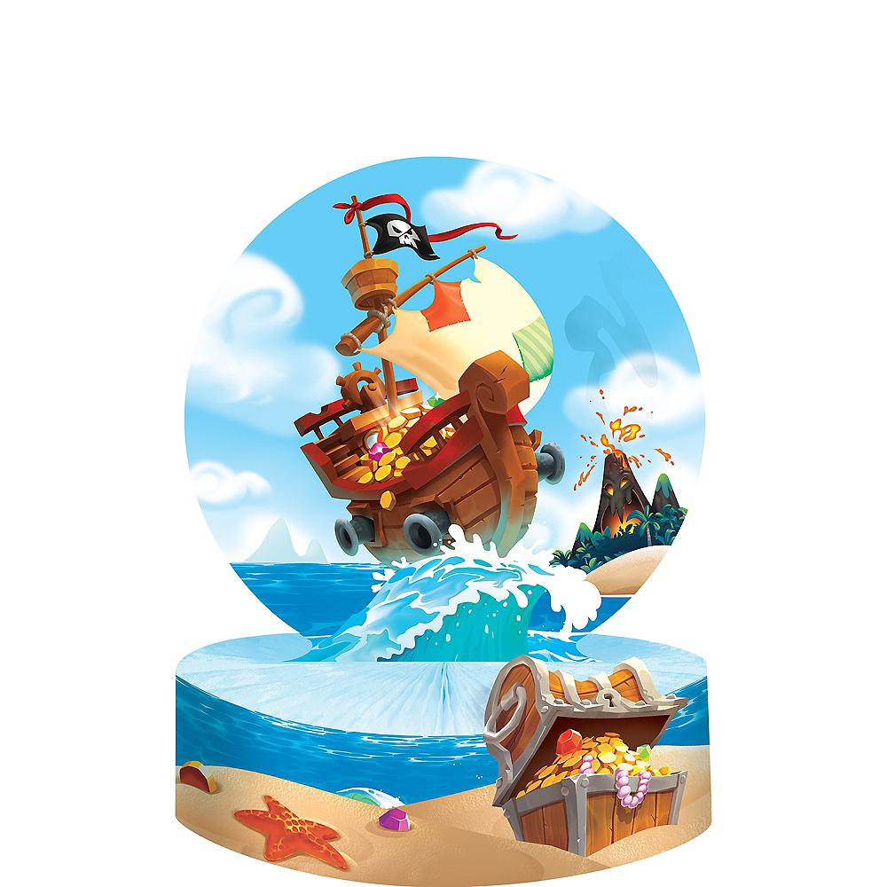 Treasure Island Pirate Honeycomb Centerpiece Image #1