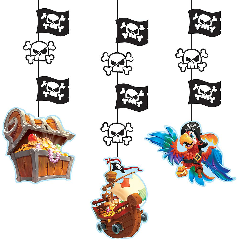Treasure Island Pirate String Decorations 3ct Image #1
