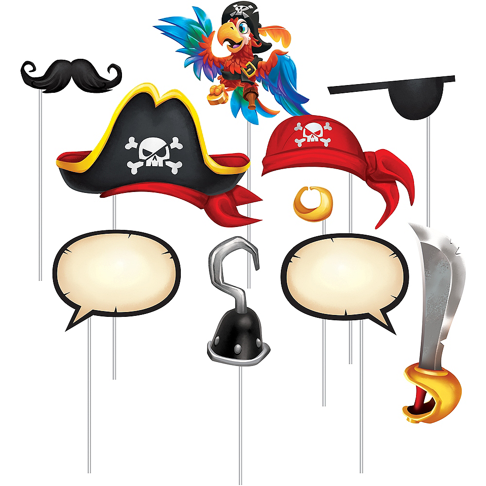 Treasure Island Pirate Photo Booth Props 10ct Image #1