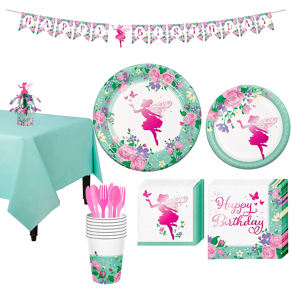 Floral Fairy Tableware Kit for 8 Guests Image #1