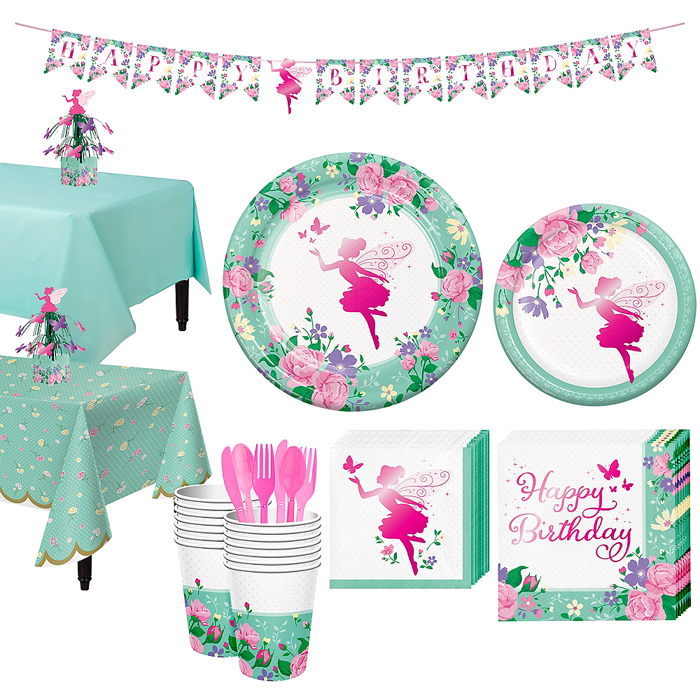 Floral Fairy Tableware Kit for 16 Guests Image #1