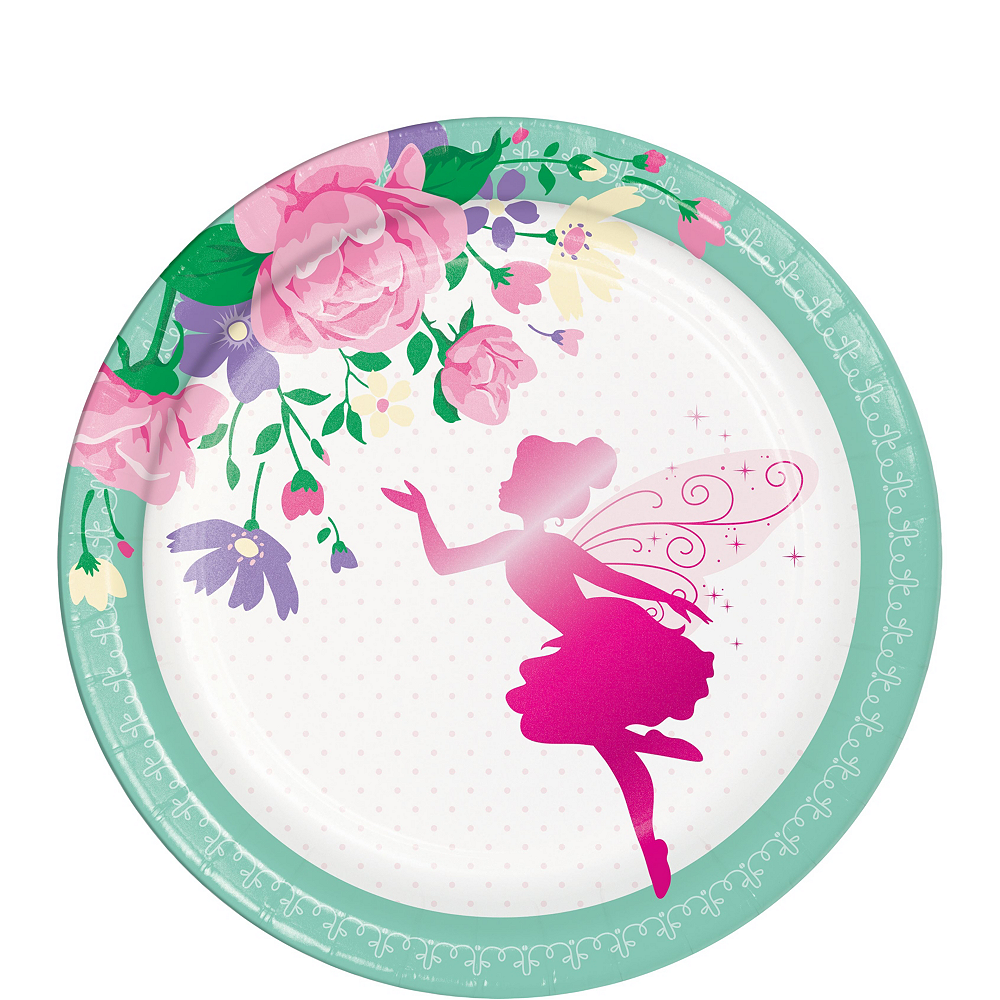 Floral Fairy Tableware Kit for 24 Guests Image #2