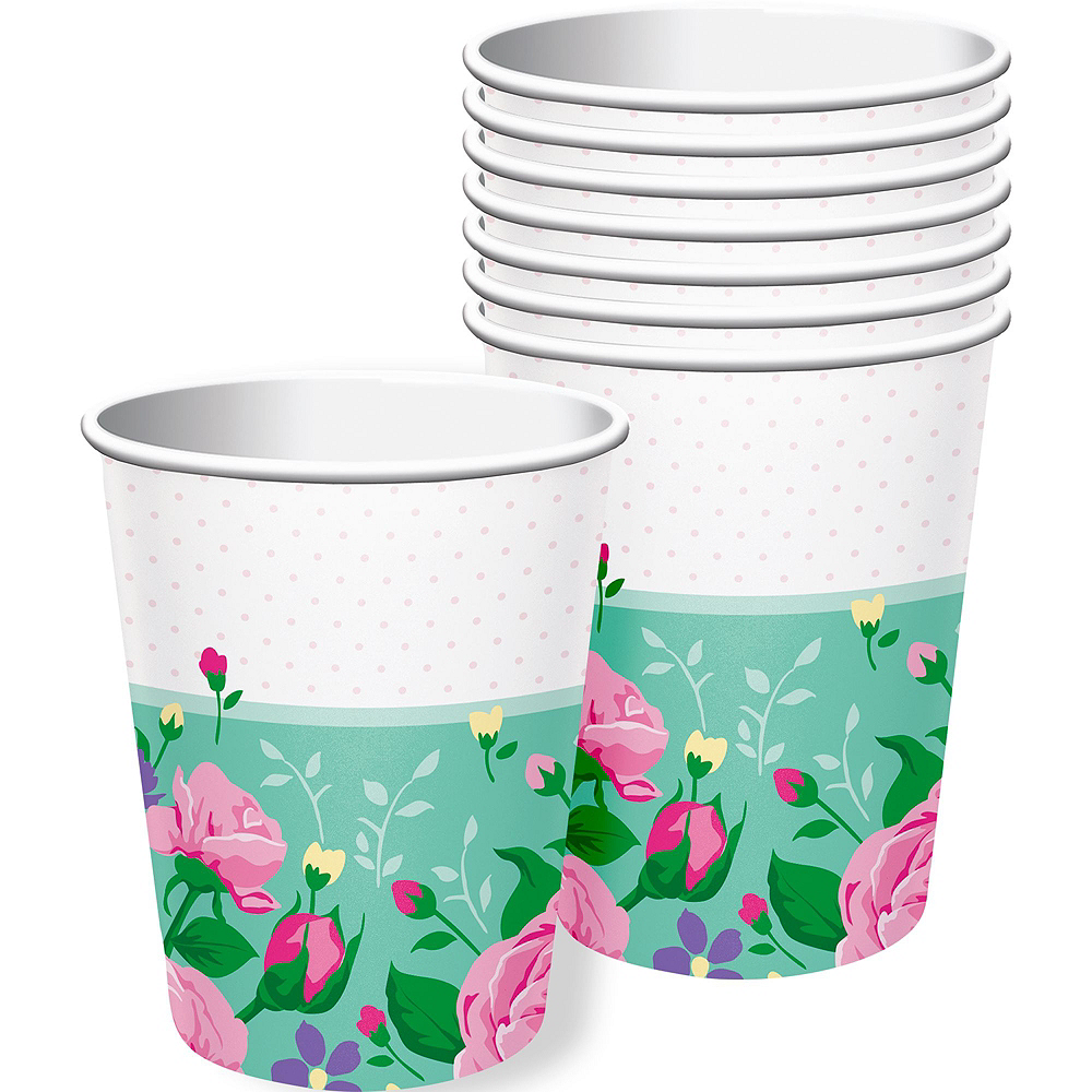 Floral Fairy Tableware Kit for 24 Guests Image #6