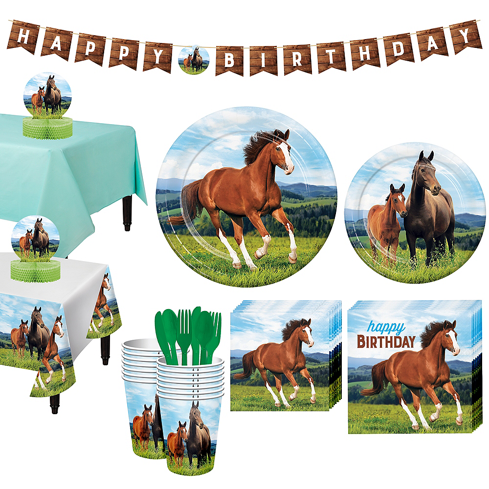 Wild Horse Tableware Kit for 16 Guests Image #1