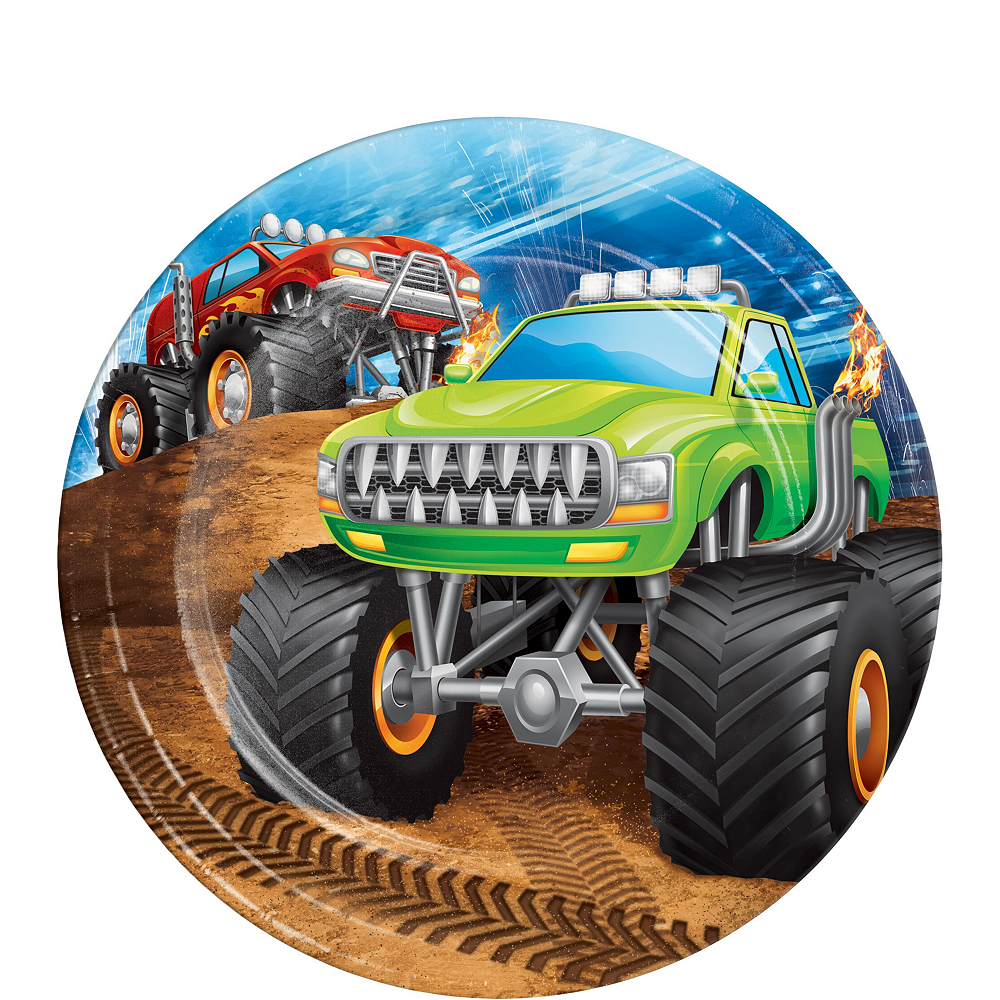 Monster Truck Tableware Kit for 8 Guests Image #2
