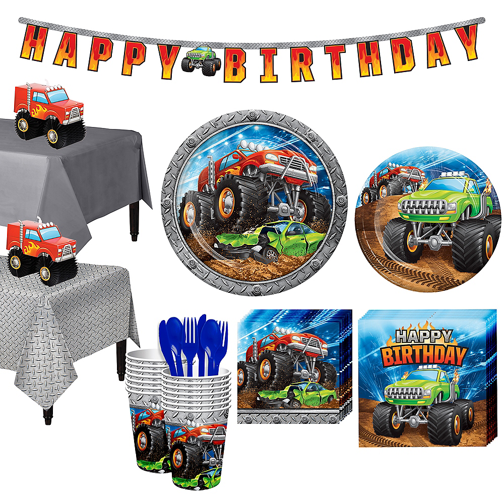 Monster Truck Tableware Kit for 16 Guests Image #1