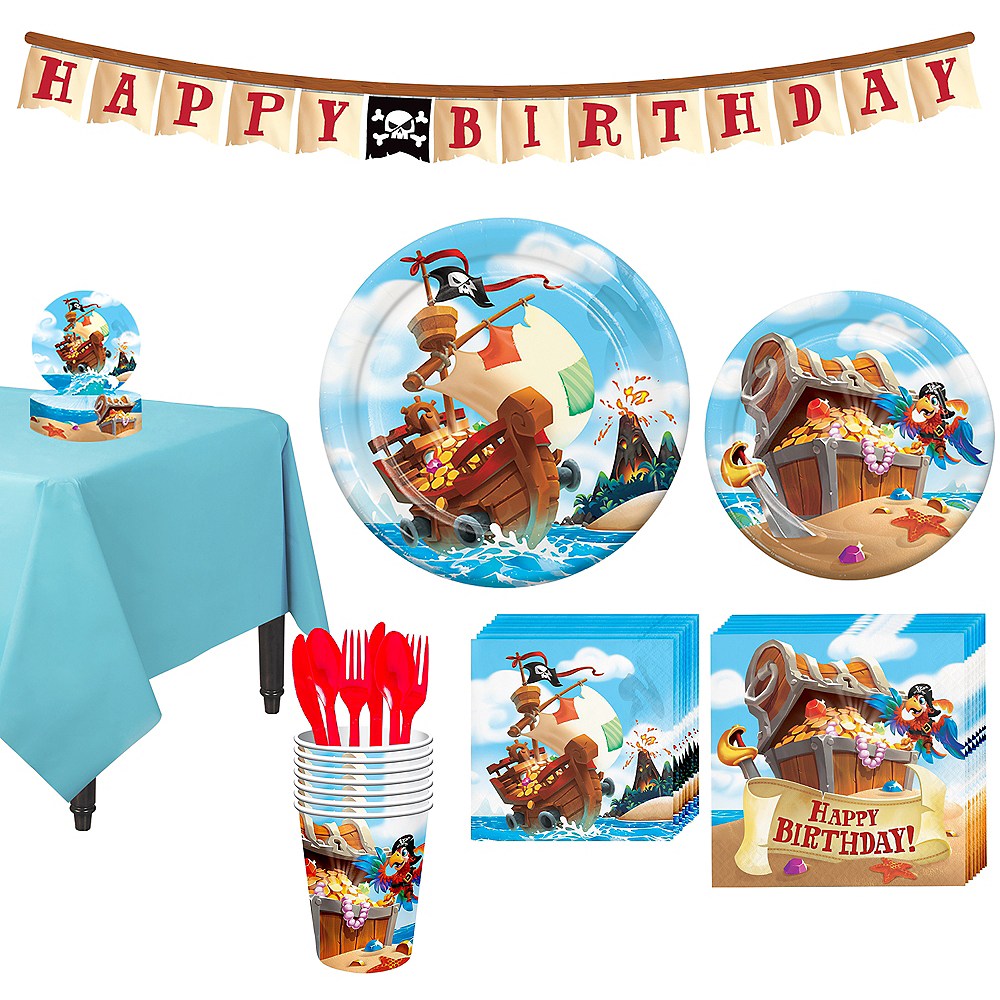 Treasure Island Pirate Tableware Kit for 8 Guests Image #1