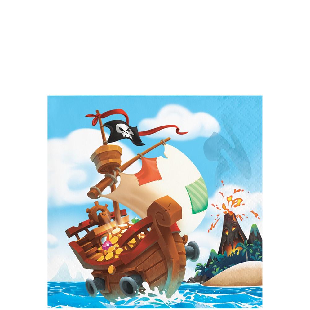Treasure Island Pirate Tableware Kit for 8 Guests Image #4