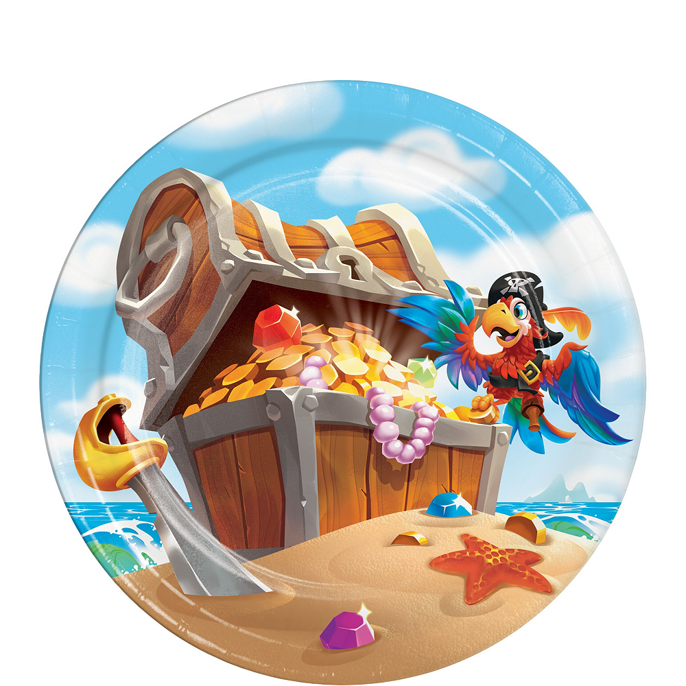 Treasure Island Pirate Tableware Kit for 16 Guests Image #2