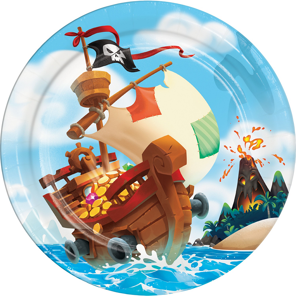 Treasure Island Pirate Tableware Kit for 16 Guests Image #3