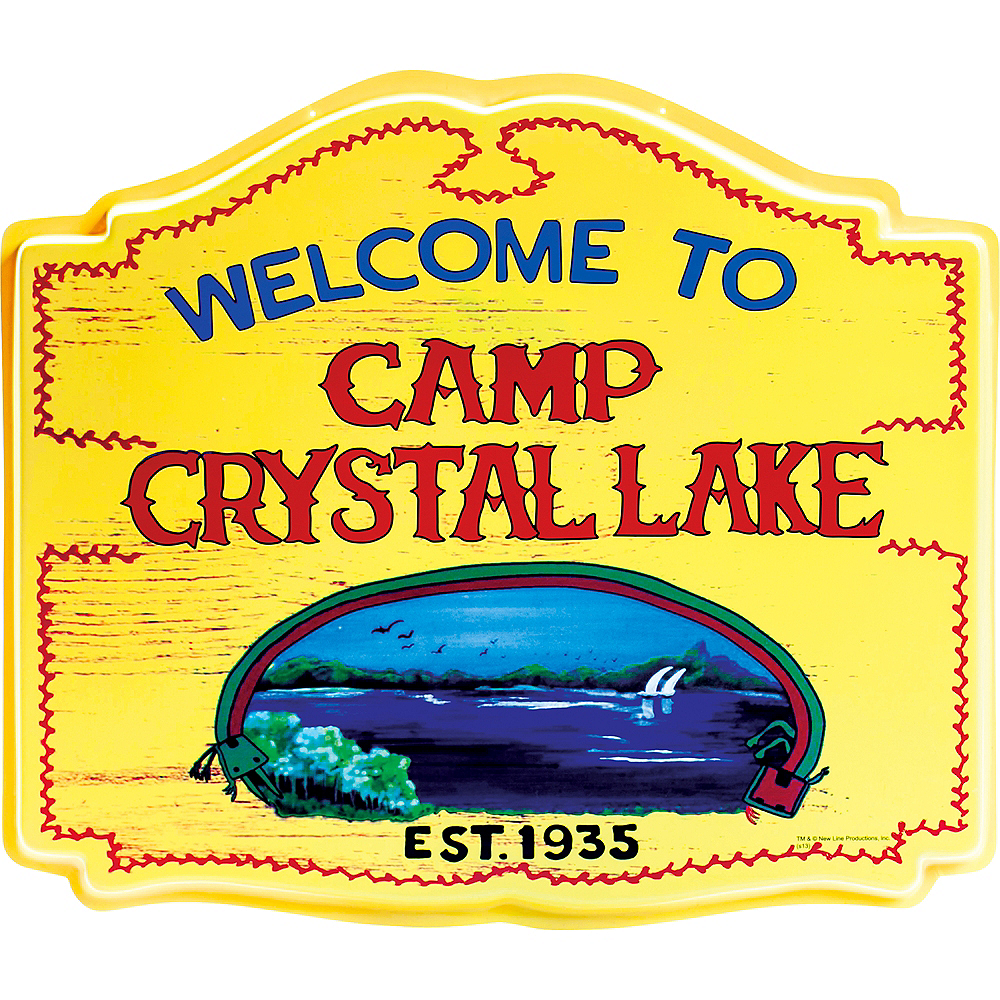 Nav Item for Camp Crystal Lake Sign - Friday the 13th Image #1