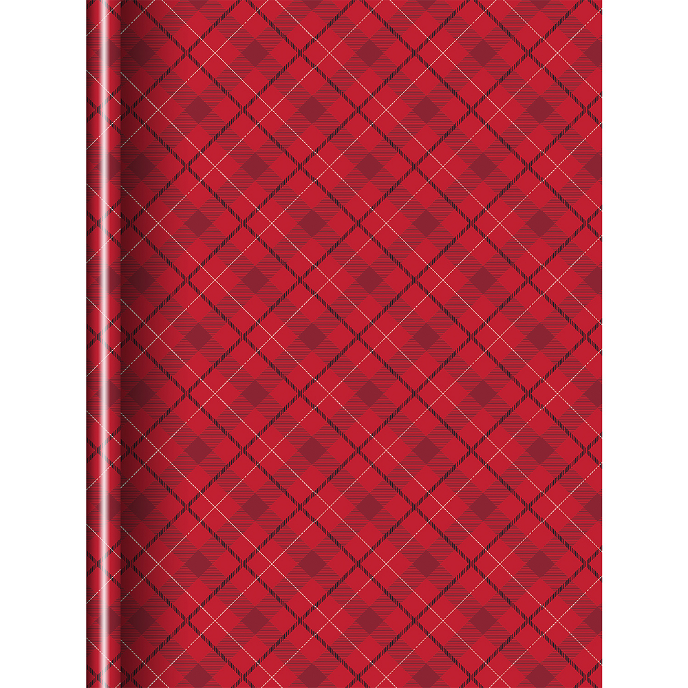 Red Plaid Gift Wrap Image #1