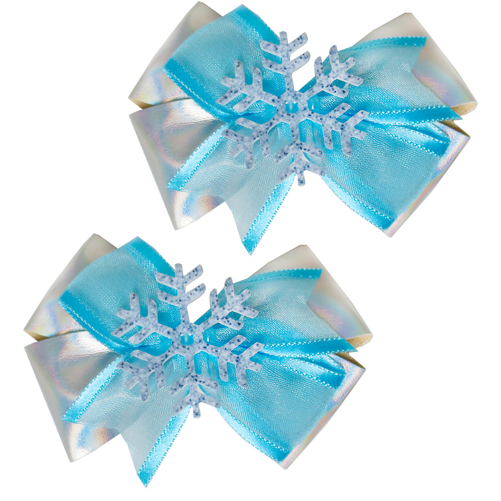 Snowflake Hair Bows 2ct Image #1