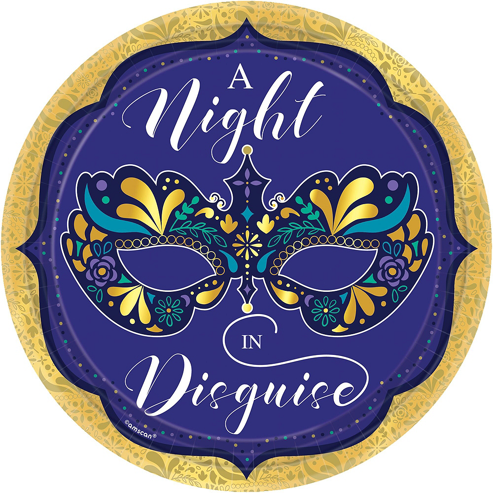 A Night In Disguise Masquerade Tableware Kit for 8 Guests Image #3