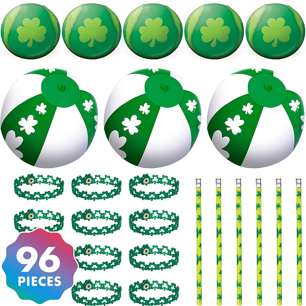 St. Patrick's Day Shamrock Party Favors Kit for 24 Guests Image #1