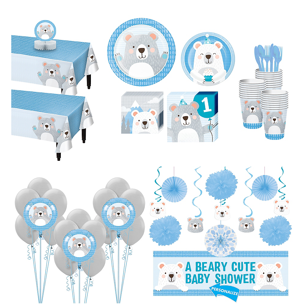 Super Beary Cute 1st Birthday Party Kit for 32 Guests Image #1