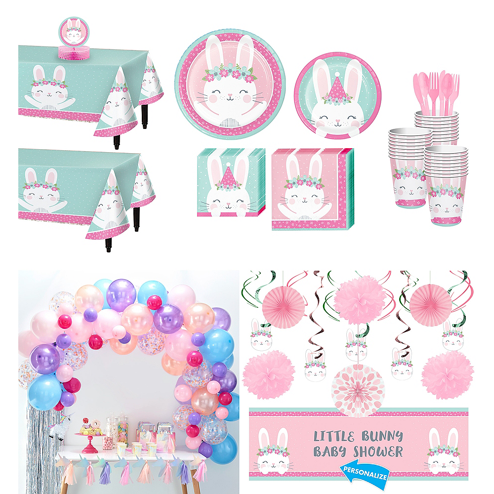 Super Some Bunny Baby Shower Party Kit for 32 Guests Image #1