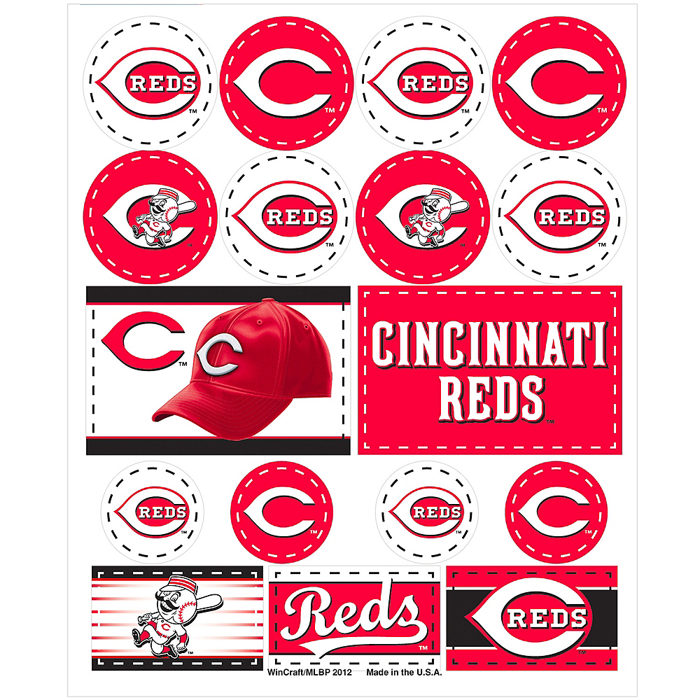 Cincinnati Reds Stickers 1 Sheet Image #1