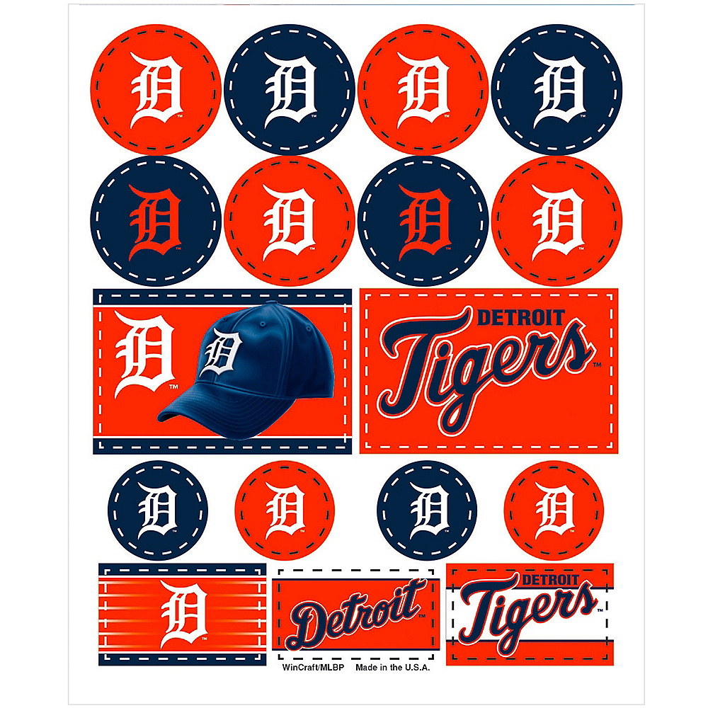 Detroit Tigers Stickers 1 Sheet Image #1