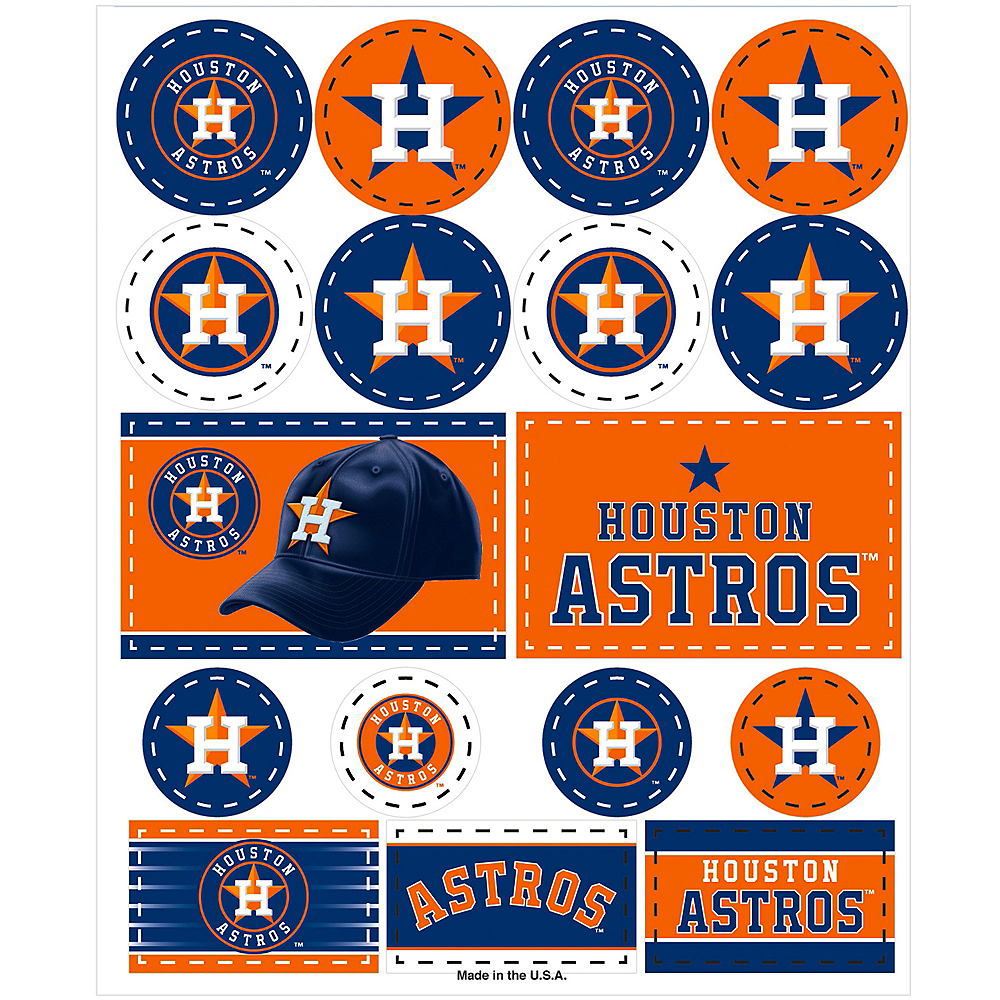 Houston Astros Stickers 1 Sheet Image #1