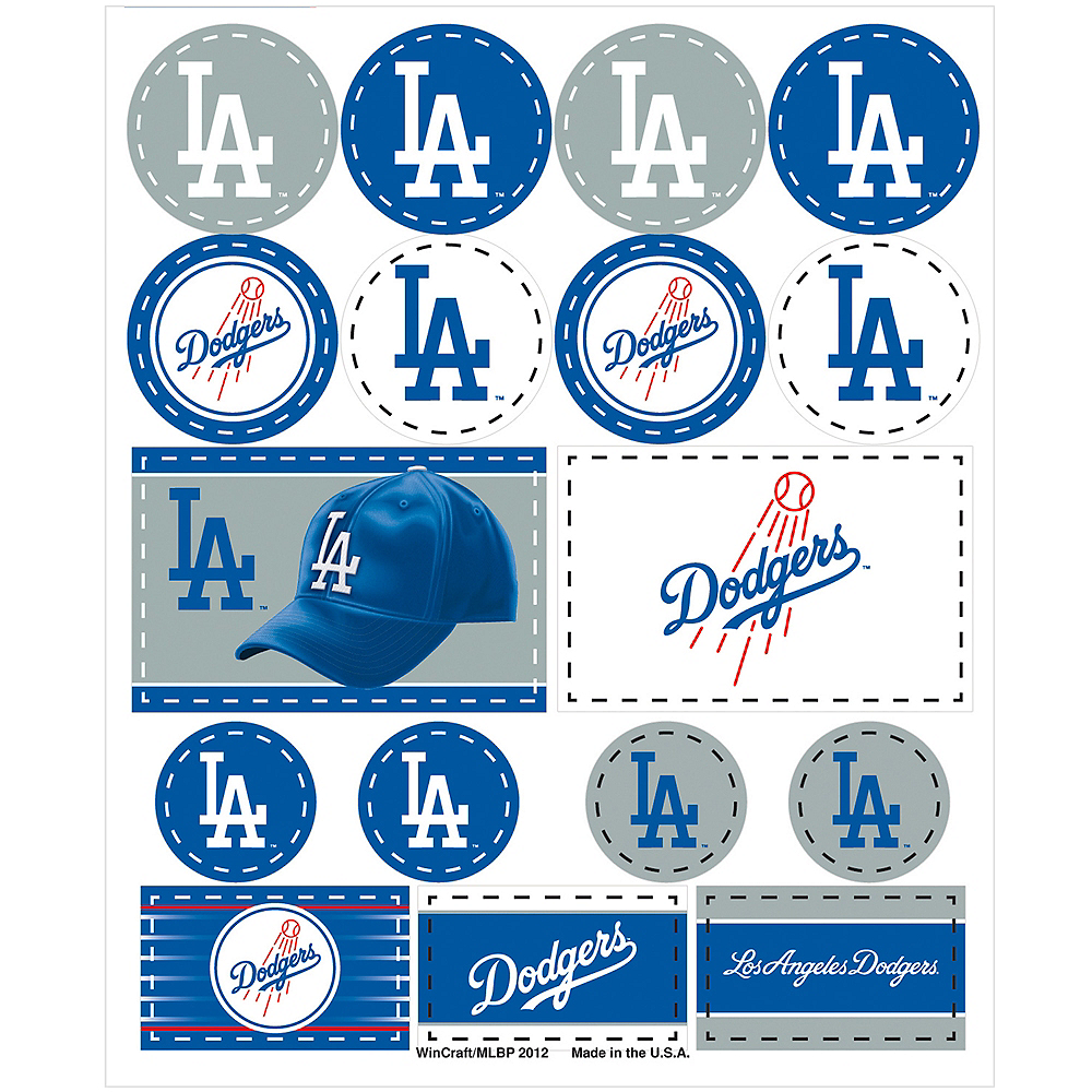 Los Angeles Dodgers Stickers 1 Sheet Image #1
