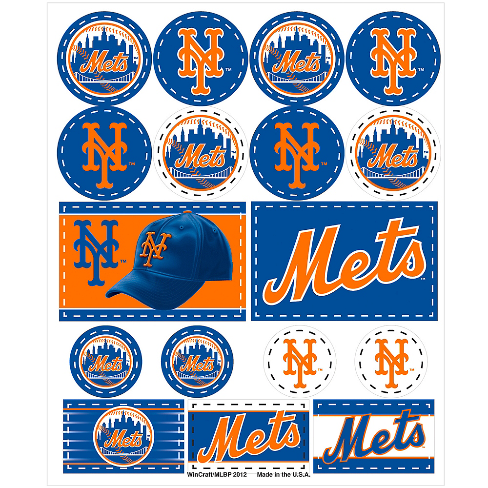 New York Mets Stickers 1 Sheet Image #1