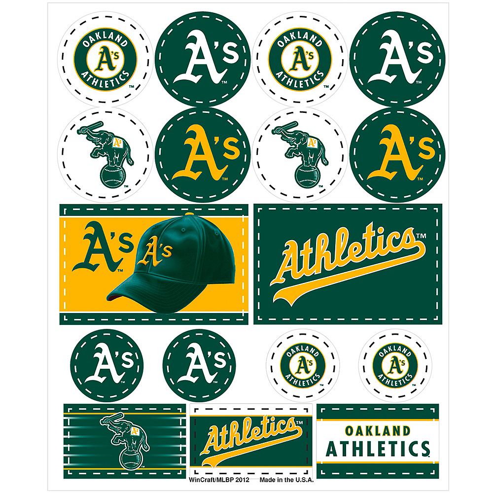 Oakland Athletics Stickers 1 Sheet Image #1