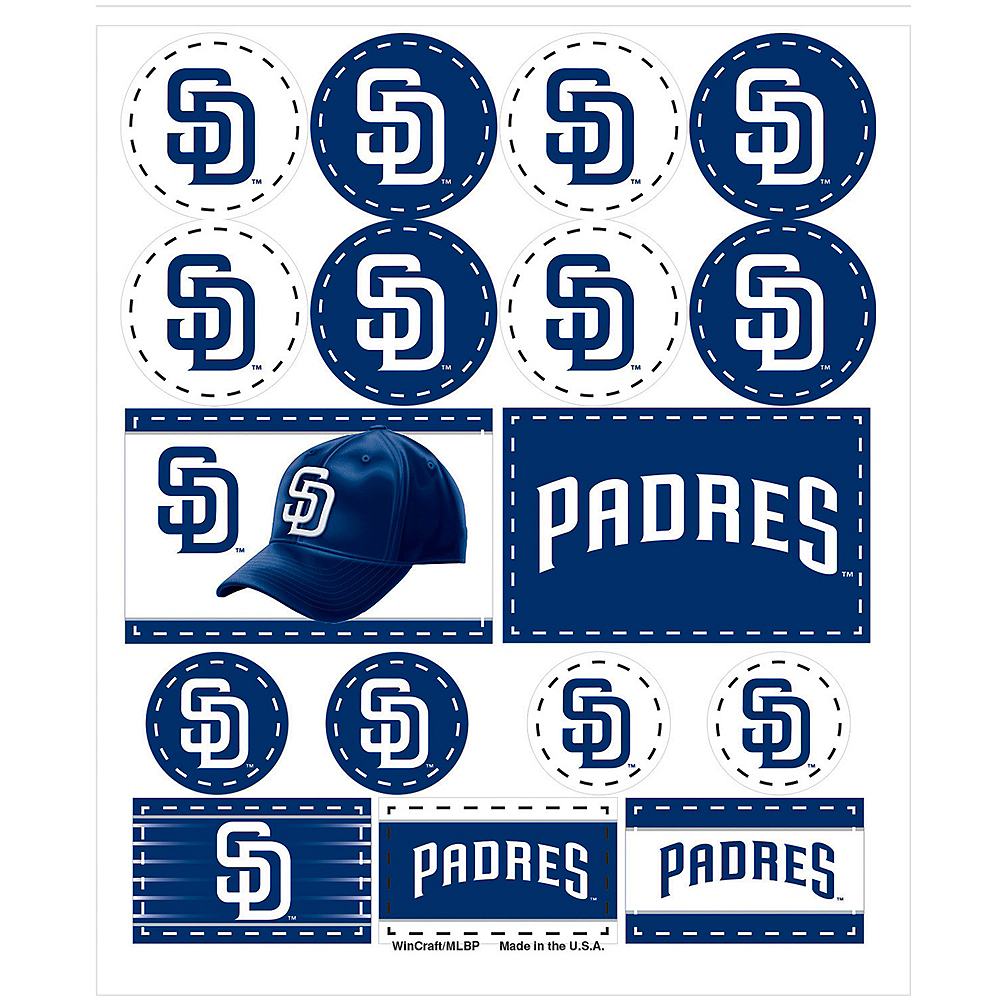 San Diego Padres Stickers 1 Sheet Image #1