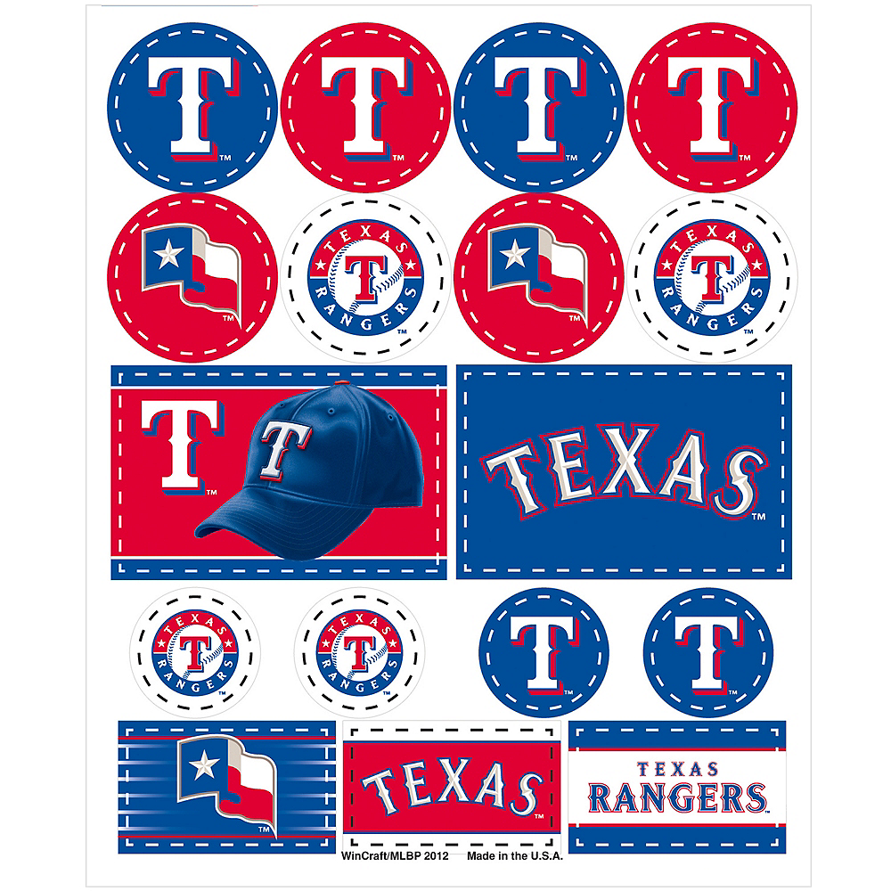 Texas Rangers Stickers 1 Sheet Image #1