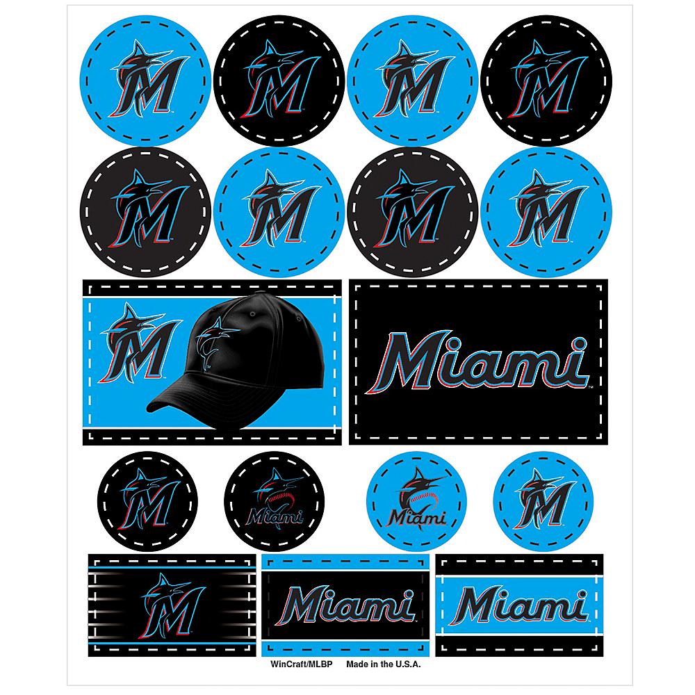 Miami Marlins Stickers 1 Sheet Image #1