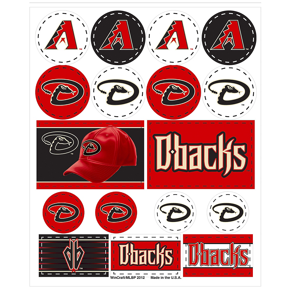 Arizona Diamondbacks Stickers 1 Sheet Image #1