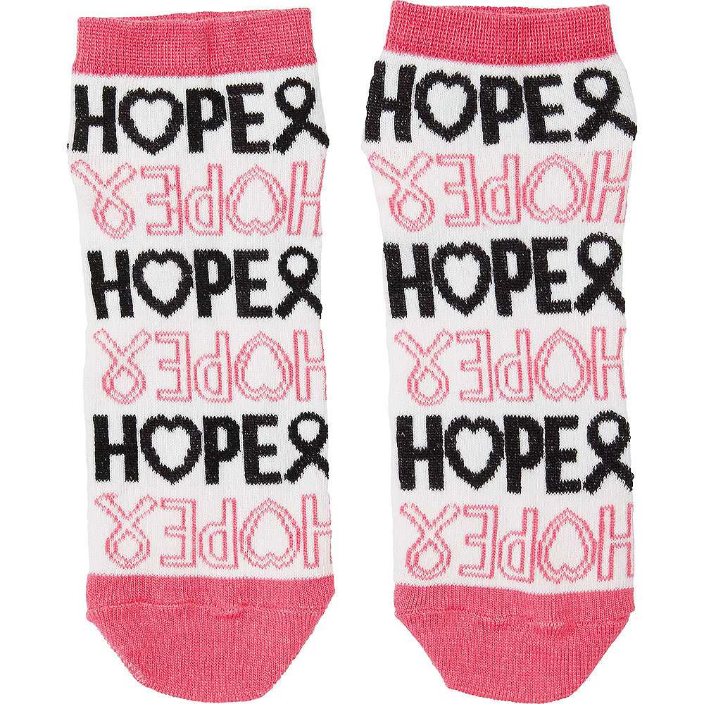 Adult Hope Ribbon Ankle Socks Image #2