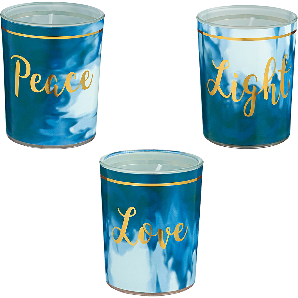 Nav Item for Peace, Love & Light Votive Candles 3ct Image #1