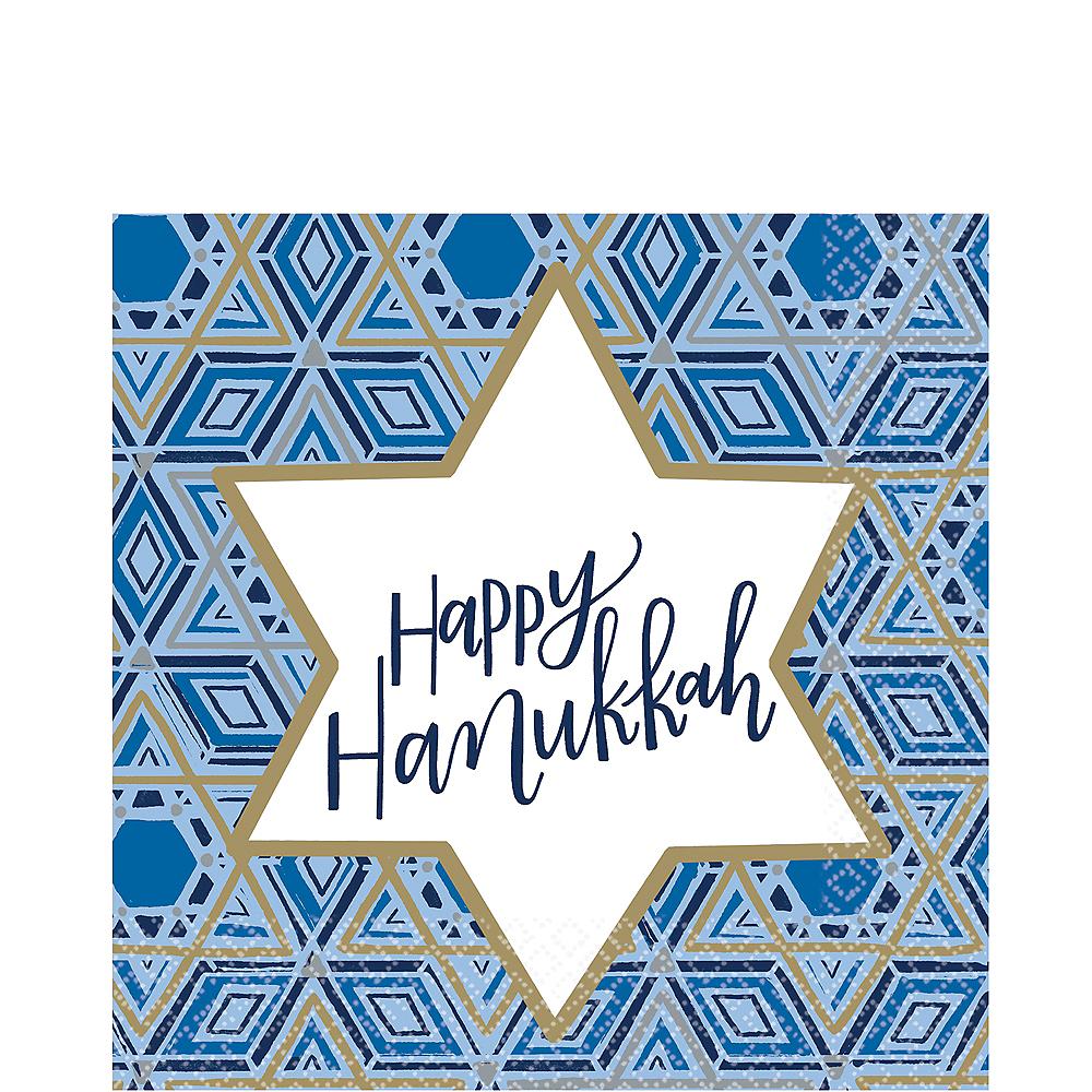 Festival of Lights Hanukkah Lunch Napkins 36ct Image #1