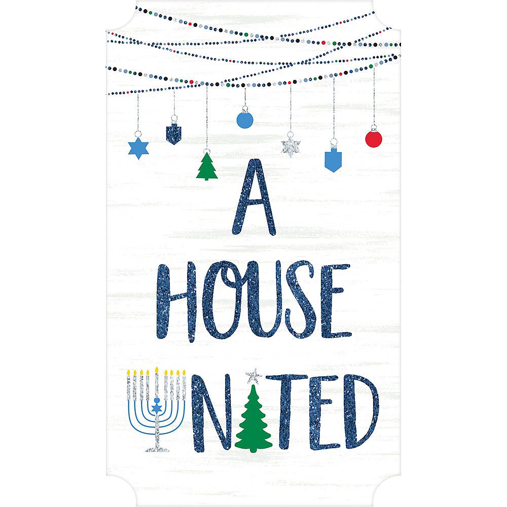 A House United Chrismukkah Easel Sign Image #1