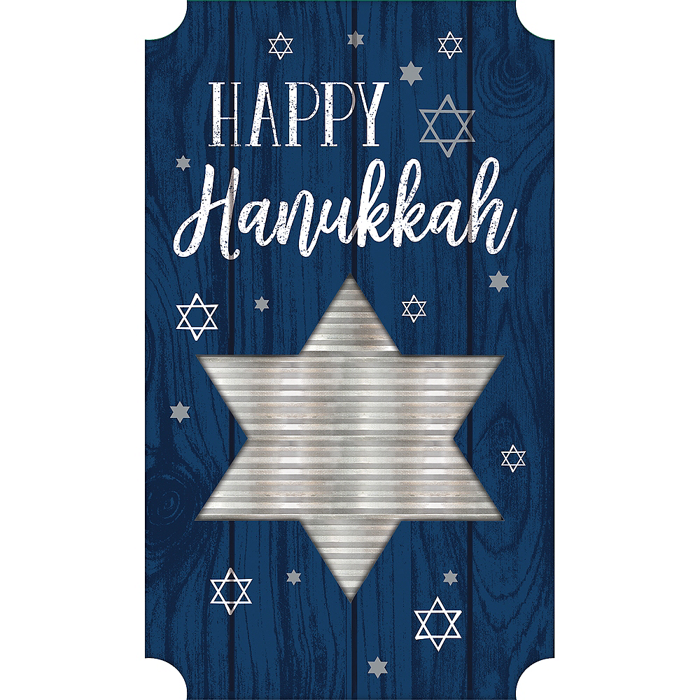 Happy Hanukkah Easel Sign Image #1