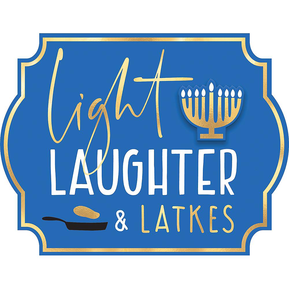 Mini Light, Laughter & Latkes Easel Sign Image #1