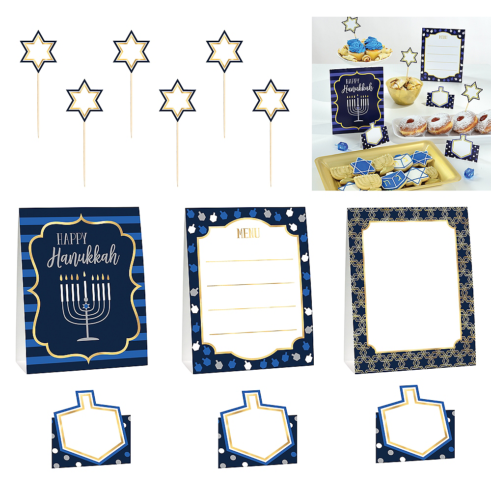 Hanukkah Buffet Decorating Kit 12pc Image #1