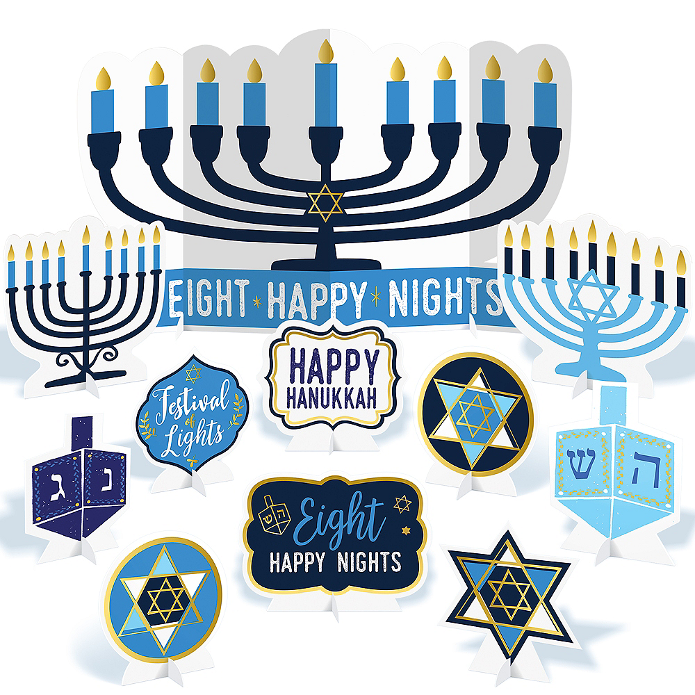 Hanukkah Table Decorating Kit 11pc Image #1