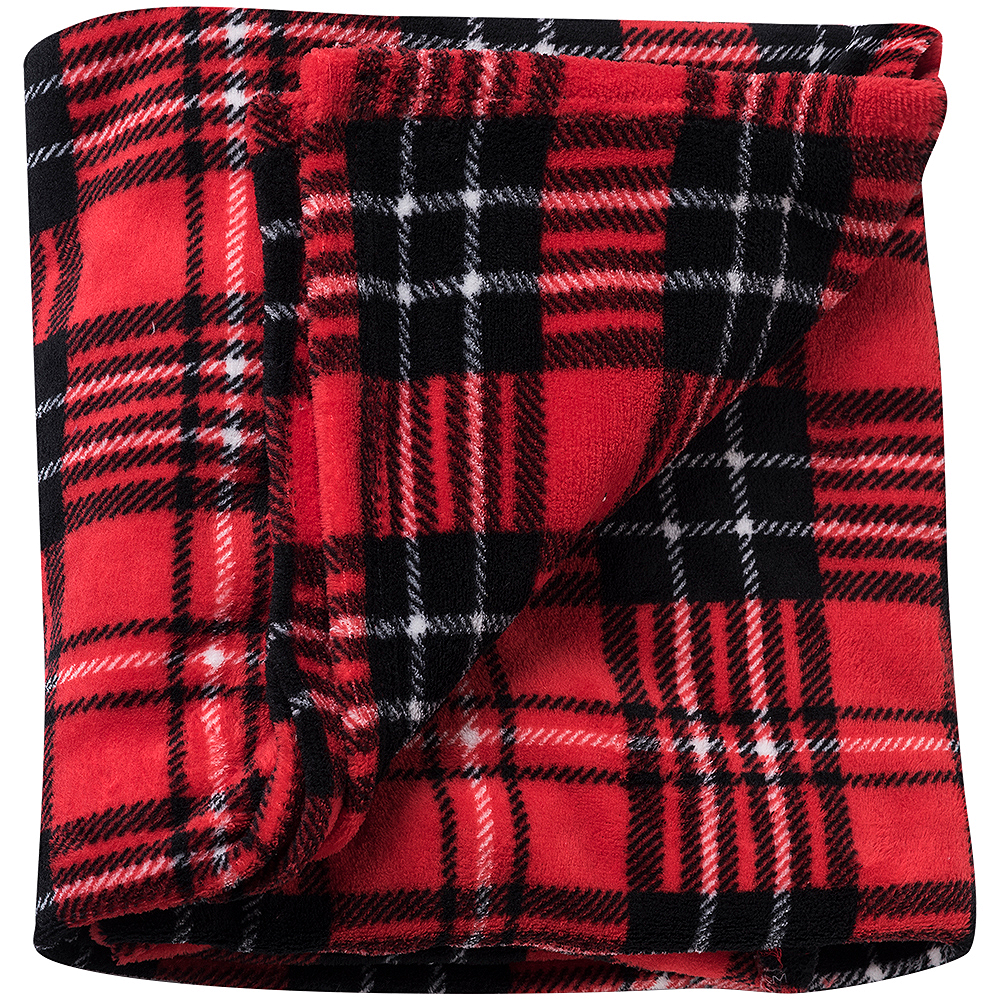 Traditional Red Plaid Blanket Image #1