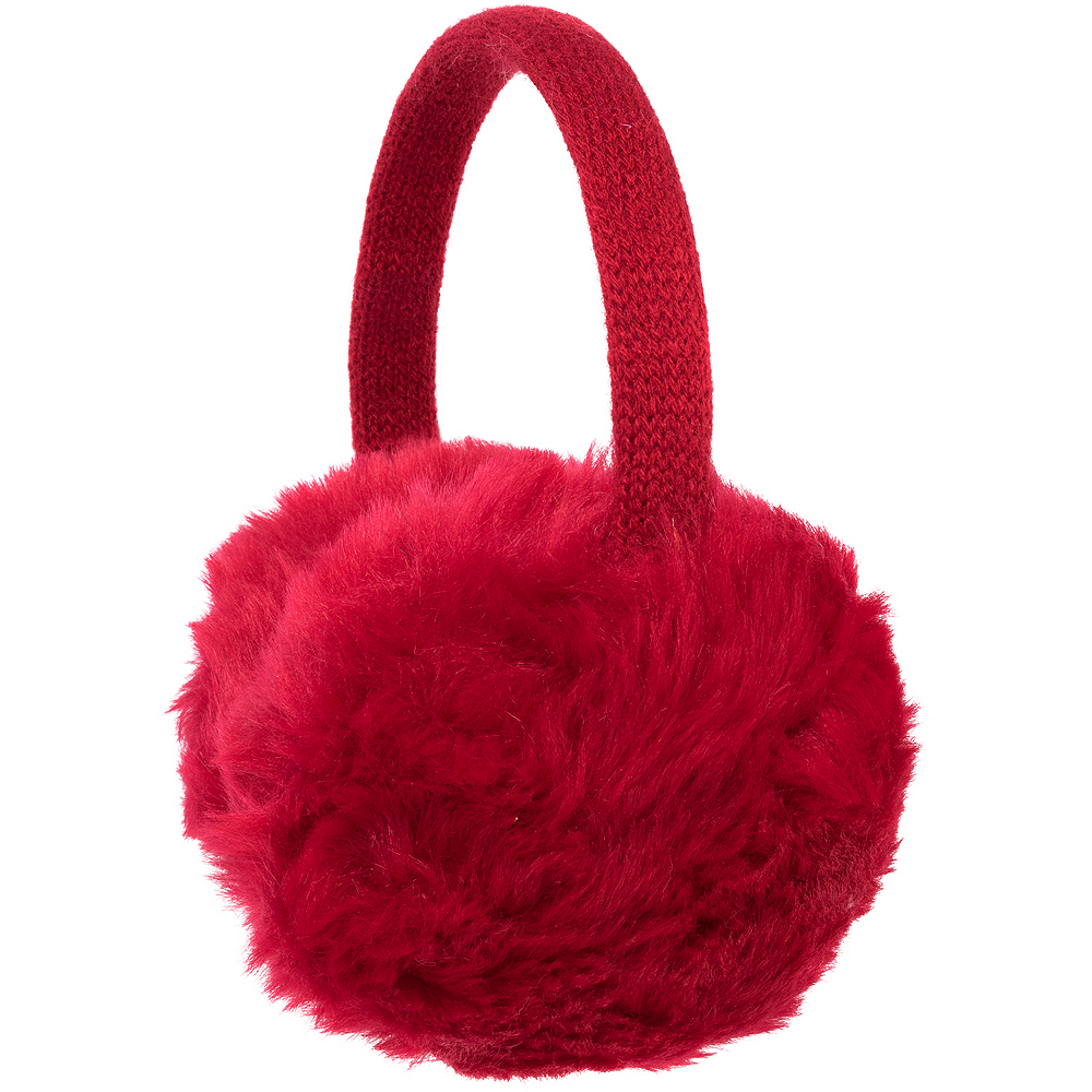 Red Faux Fur Earmuffs Image #1