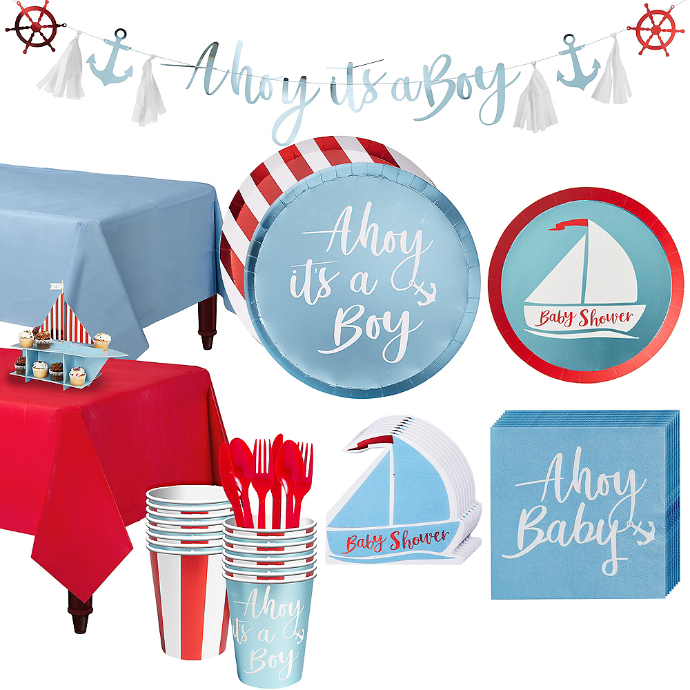 Ginger Ray Nautical Baby Shower Kit for 16 Guests Image #1