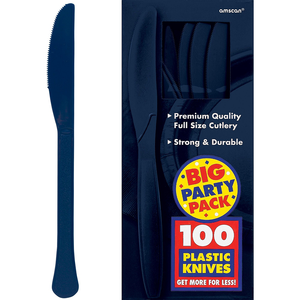 Navy Blue Paper Tableware Kit for 100 Guests Image #10