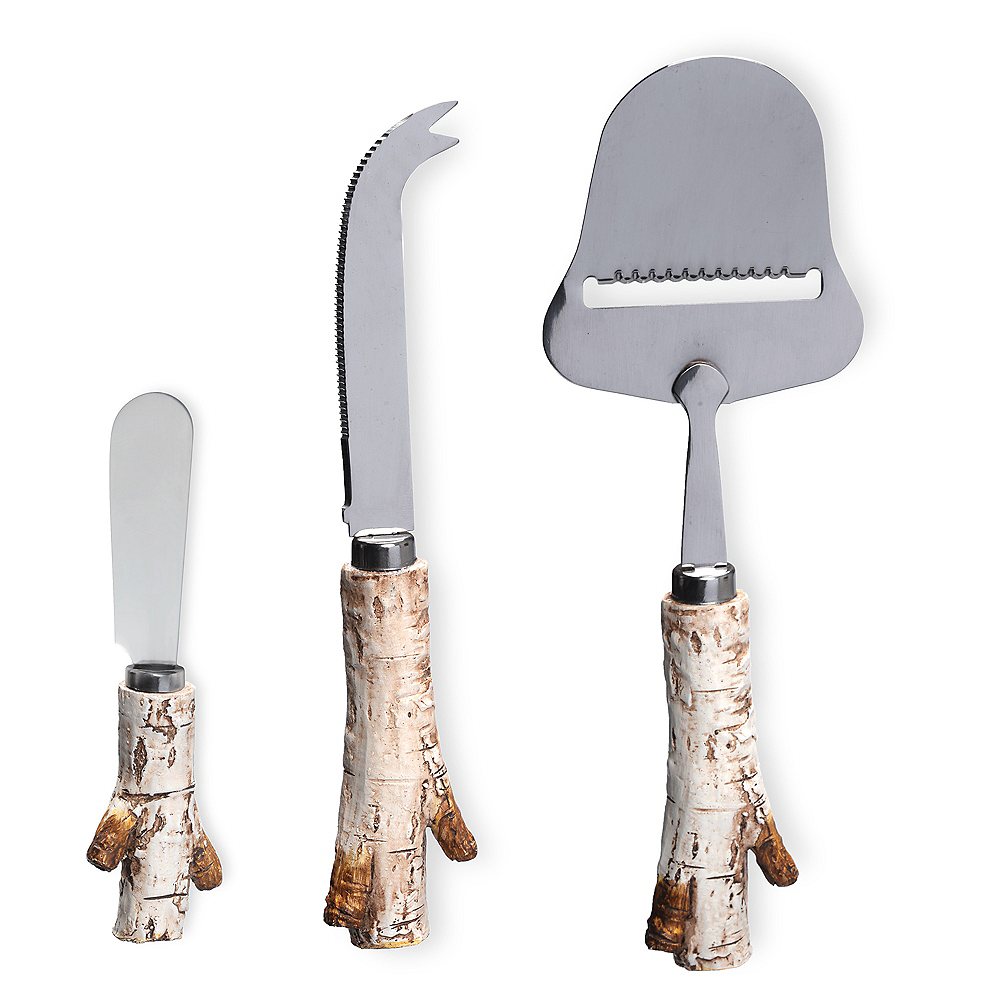 Birch Wood Cheese Serving Set 3pc Image #1