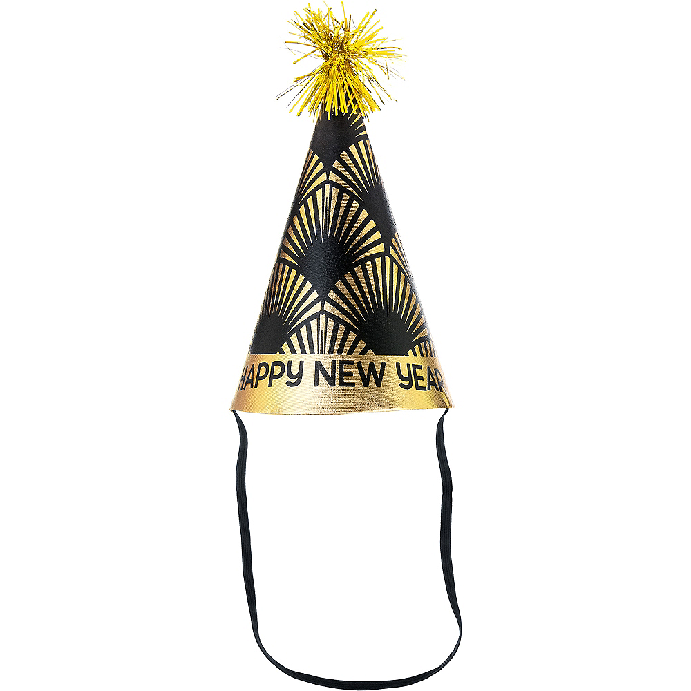 Art Deco New Year's Eve Cone Hat Image #1
